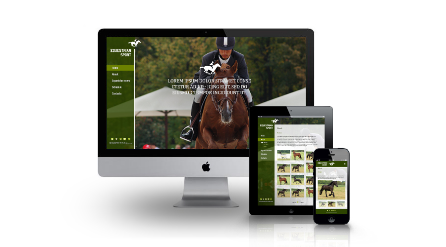 Responsive Equestrian Business Catalyst template